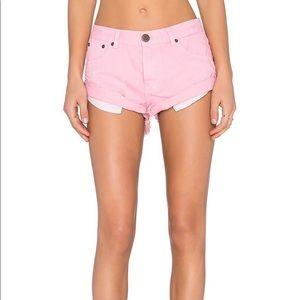 One Teaspoon Shorts - One Teaspoon Pink Bandits Shorts